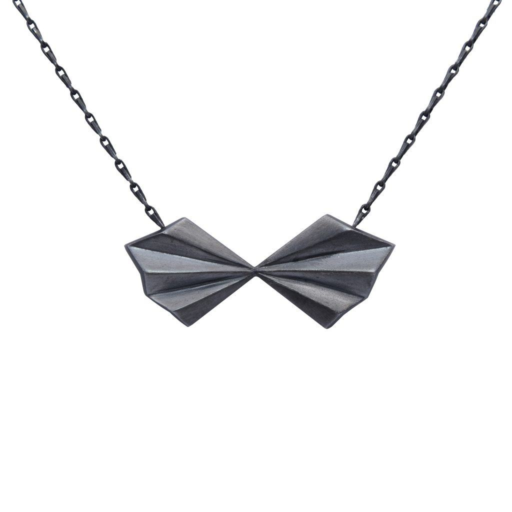 black-pleated-bow-necklace-by-alice-barnes-jewellery