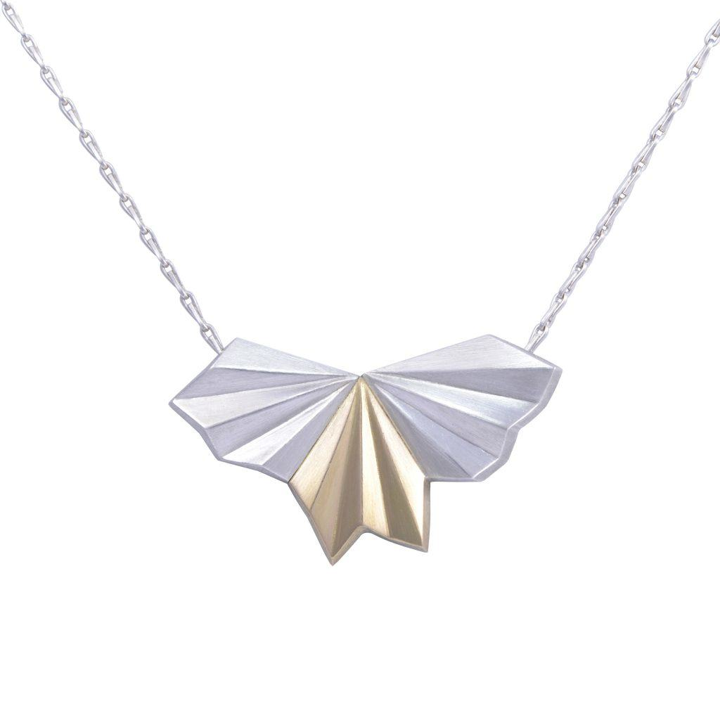 silver-18ct-gold-wings-necklace-by-alice-barnes-jewellery