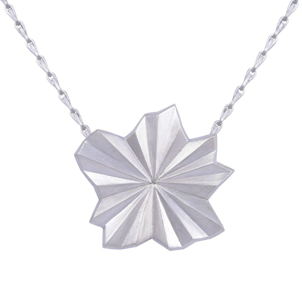 silver-pleated-star-necklace-by-alice-barnes-jewellery