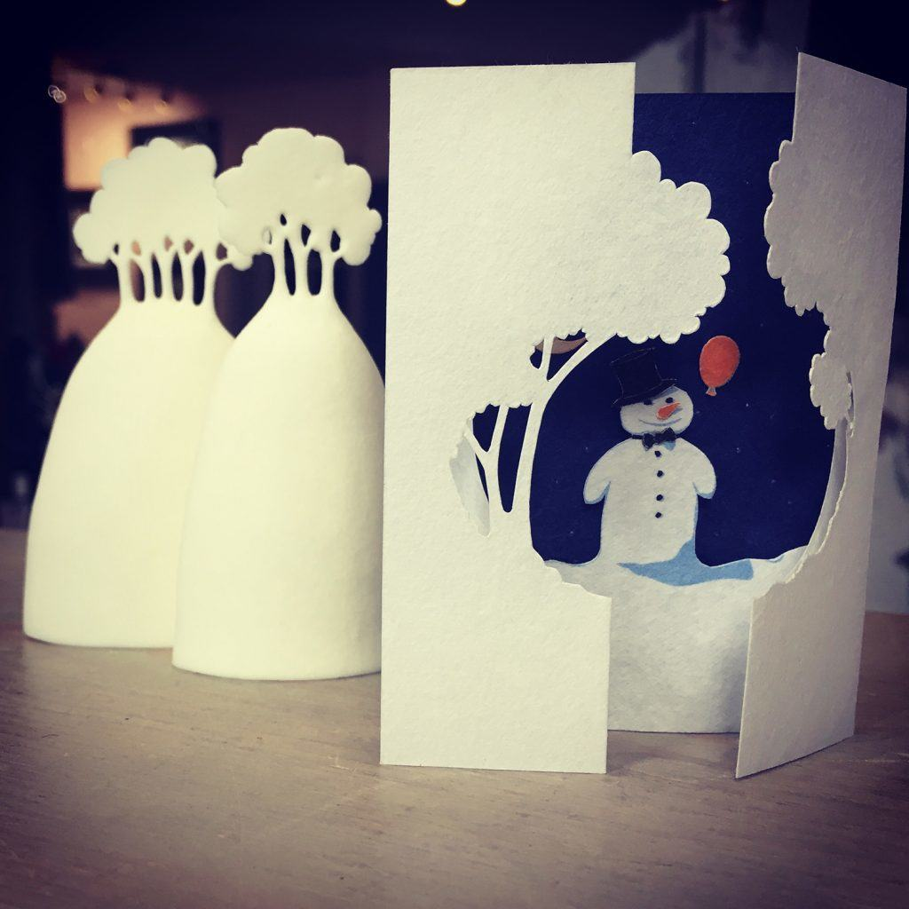 Our fave Christmas card this year from one of our ceramicists ... it's sooooo tiny x