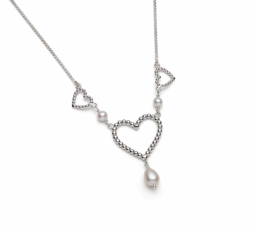 Rebecca Lewis granule heart and pearl collection Heart Gallery