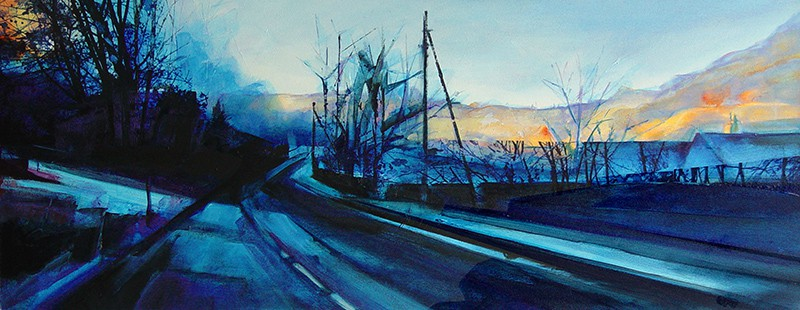 Kate Boyce Early Morning Light Crag Vale