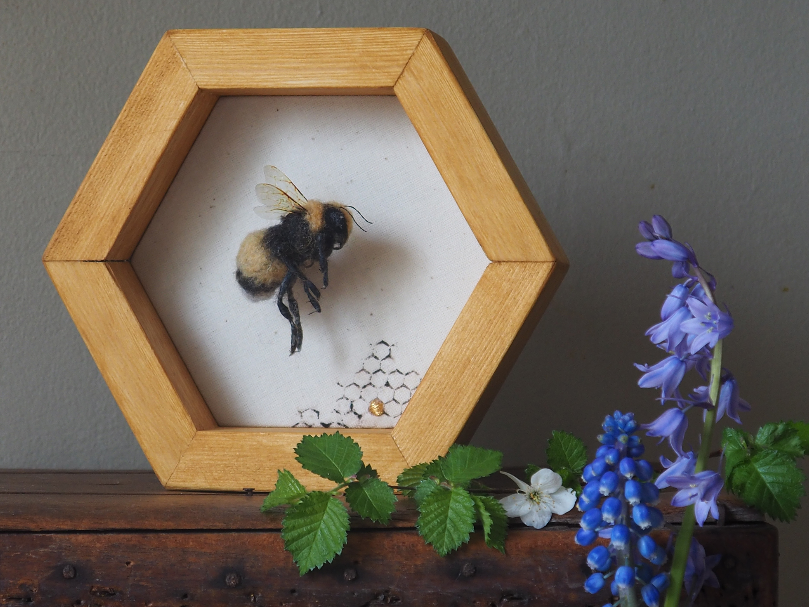 Lucy Pendrick framed bee