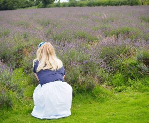 Lucy Pendrick at lavender farm