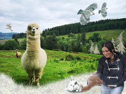 Emma Smalley and her Alpacas