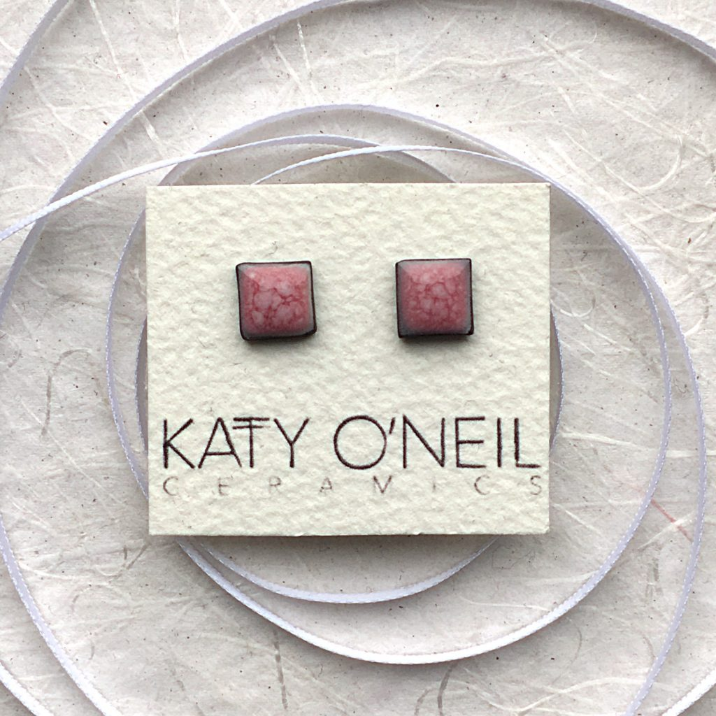 Katy O'Neil studs in pink