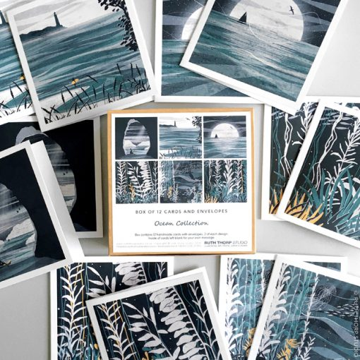 Ocean-Collection-2 of each design-Greeting-Cards