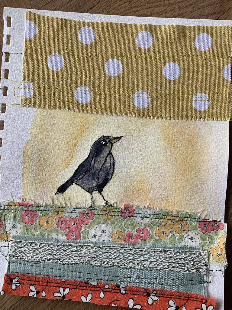 Watercolour & stitch playtime 1